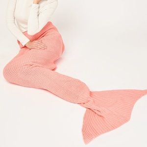Other - Coral mermaid tail blanket